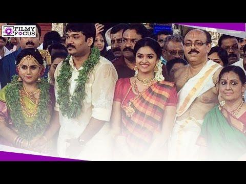 Actress Keerthy (keerthi)Suresh Sister Wedding || Actress Menaka