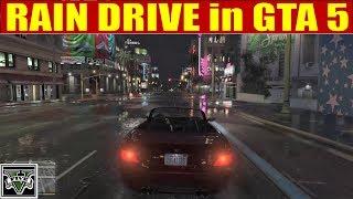 RAIN DRIVE in GTA 5 - for SLEEPING, RELAXING SOUND