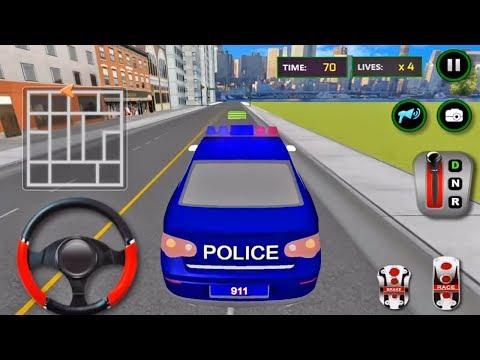 Juegos de Carros Policias para niños - Conductor de Carro Policia - Juegos Para Niños Pequeños