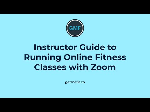 Fitness Instructor Guide to Running Online Group Exercise Classes with Zoom
