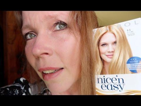 First Time Dying my hair Blonde! - Nice n Easy Hair Dye