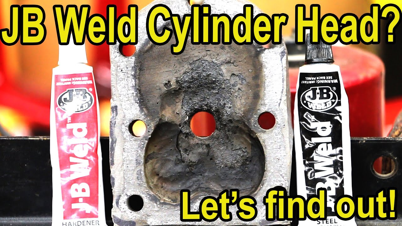 Welding Cylinder Heads : J b weld cylinder head seriously youtube