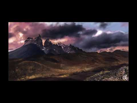 Mesmerizing Patagonia | Landscape time-lapse video | Photoshop digital painting