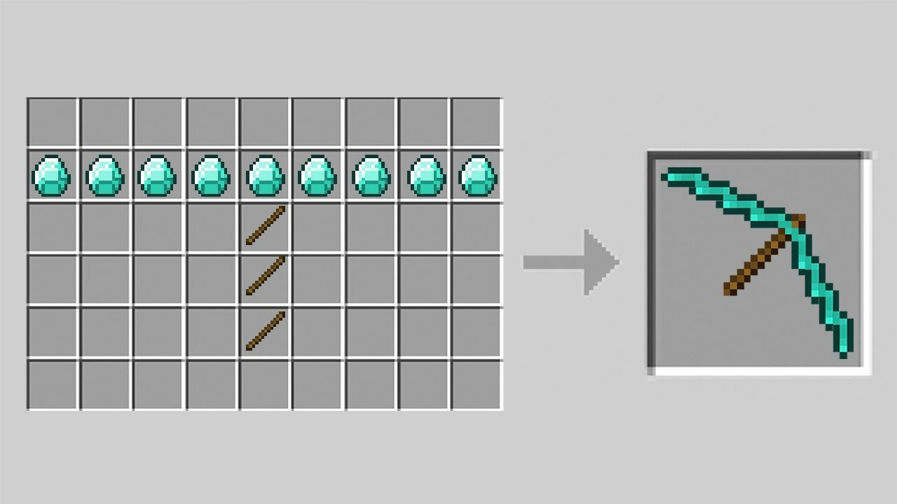 How to Make A LONG PICKAXE in Minecraft!
