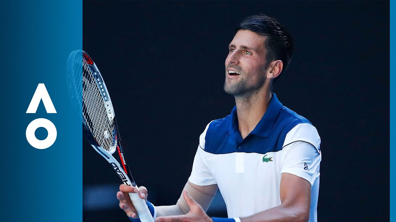 Novak Djokovic V Gael Monfils Match Highlights 2r Australian Open 2018 Youtube