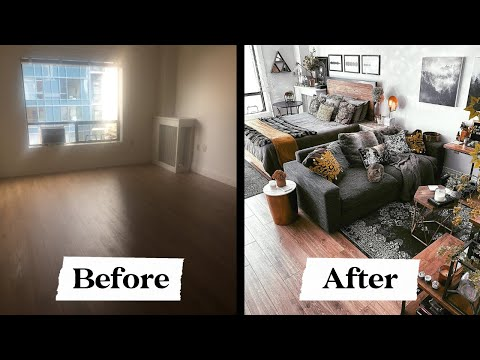 Studio Apartment Makeover: My 500 sq ft Studio Apartment Before and After
