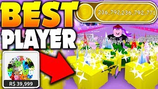 WORLDS BEST POSSIBLE PLAYER ON ROBLOX PET SIMULATOR!!? (ALL GOLD PETS!!)