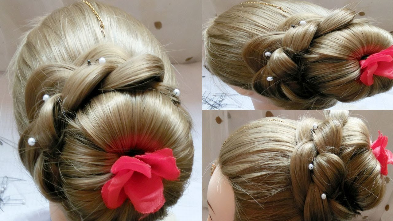 Quick And Easy Donut Bun Hairstyles Juda Hairstyles Juda Kaise Banaye Bridal Bun Hair Style