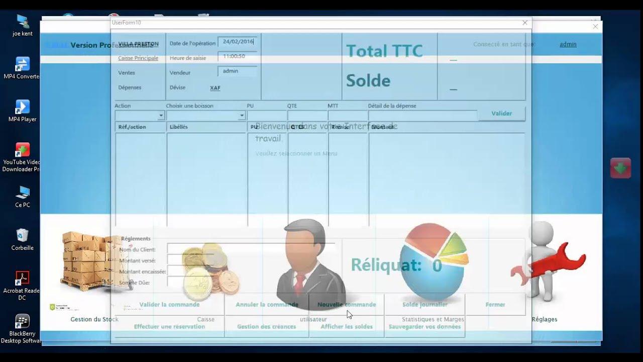 Excel Vba Application De Gestion Integree