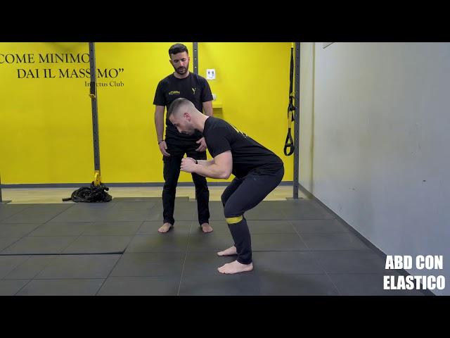 Abduzione con elastico. Esecuzione e tecnica