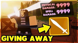GIVING AWAY *GOLDY* GEAR TO NOOBS & CRYSTALIZED GREATSWORD GIVEAWAY | Roblox: Dungeon Quest