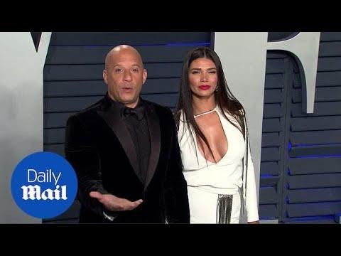 Vin Diesel makes Paloma Jiménez laugh at Vanity Fair Oscar Bash