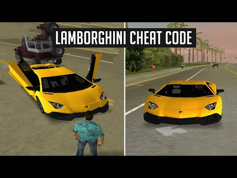 HOW TO GET LAMBORGHINI IN GTA VICE CITY (CHEAT CODE)