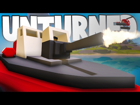 Unturned 3.18.1.0: NEW Hawaii VEHICLES! TANK Boat, Gun Dinghy, Amphibious ATV
