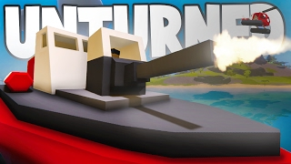 Unturned 3.18.1.0: NEW Hawaii VEHICLES! TANK Boat, Gun Dinghy, Amphibious ATV
