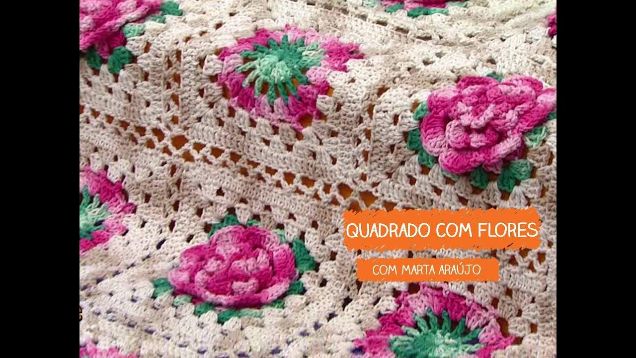 Armario Roupeiro De Aço ~ Quadrado com Flores com Marta Araújo Vitrine do Artesanato na TV TV Gazeta YouTube