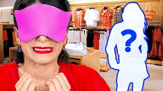 BLINDFOLDED FOR 24 HOURS CHALLENGE || Blindfolded Makeup, Shopping! Funny Pranks By 123 GO!CHALLENGE