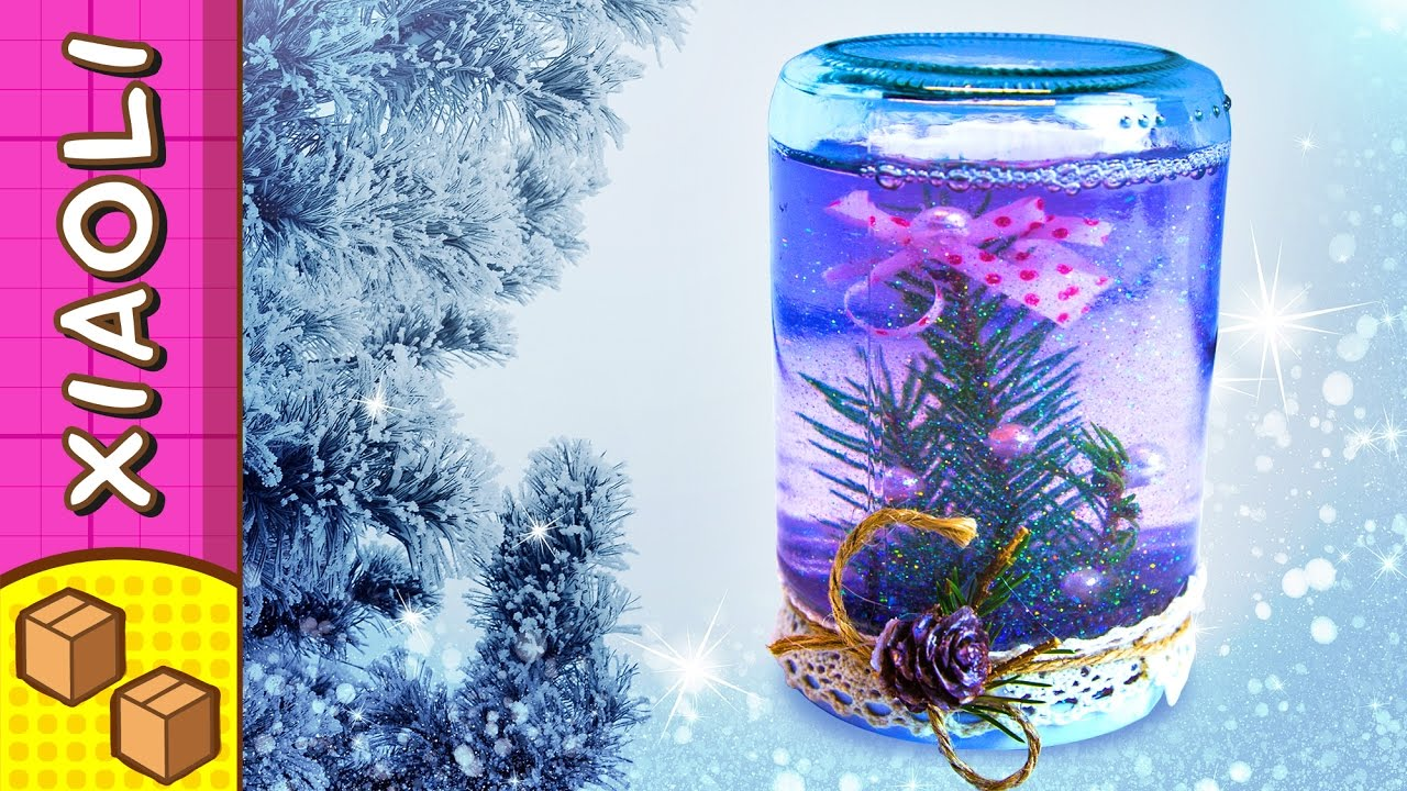 Diy Snow Globe Christmas Craft Ideas For Kids On Box Yourself