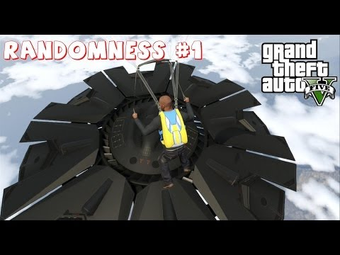Grand Theft Auto V Randomness #1 and a Alien Space Craft High Above Fort Zancudo