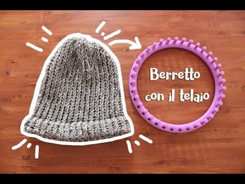 Come fare un berretto con il telaio circolare - YouTube 1205ccfdb6b6