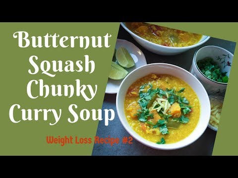butternut-squash-chunky-curry-soup-~weight-loss-recipe-~one-pot-dinner~vegan