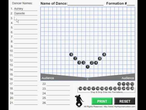 Dance and Cheer Formations Software Demonstration