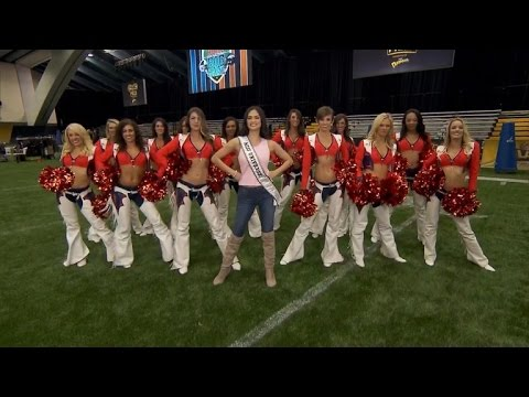 Watch The Denver Bronco Cheerleaders Teach Miss Universe Their Moves