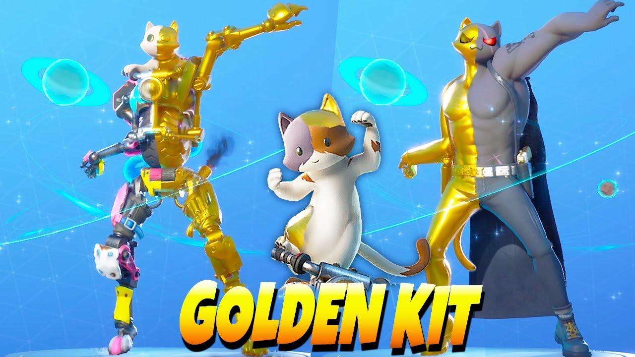 Golden Kit Vs Meowscles Gold Vs Ghost Vs Shadow In Season 3 Fortnite Dance Battle Youtube