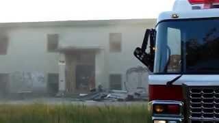 Cornwallis School set on Fire. Sydney Nova Scotia