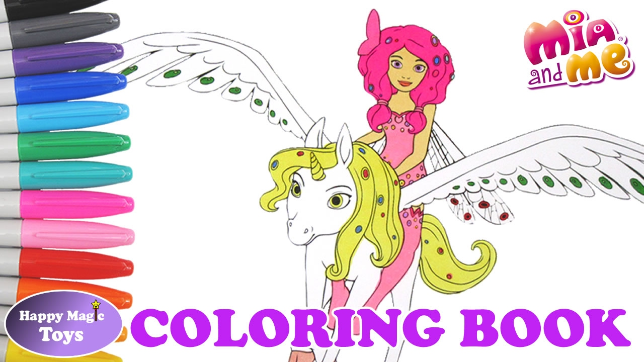 Mia and me unicorn coloring pages - Mia And Me Coloring Book Mia Riding Onchao Happy Magic Toys