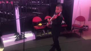 National Anthem (Pre-Hockey Game Warm Up) PNC Arena Raleigh Tyler Butler-Figueroa, Violinist