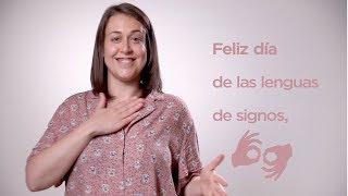 Feliz día de las lenguas de signos