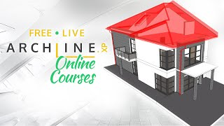 Live ARCHLine.XP Course Part 2 - Your House Gets Its Roof