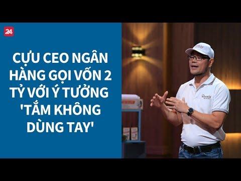 """Shark Tank Việt Nam tập 1: Startup 'tắm không dùng tay' có """"lung lay"""" được cá mập?"""