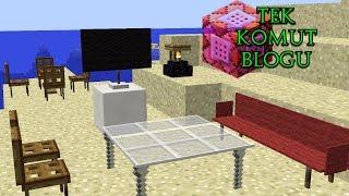 MİNECRAFT EV EŞYALARI MODSUZ | Minecraft Tek Komut Bloğu | Bölüm 1
