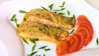 Горбуша , запеченная под соусом в фольге , непременно станет Вашим коронным блюдом !