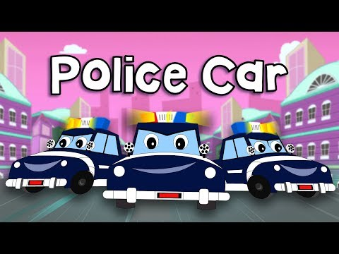 Police Car Song I Cops Chase Thief Vehicles  Fun For Kids TV