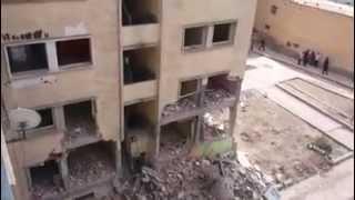 سقوط عمارة السيلو في سيدي بلعباس