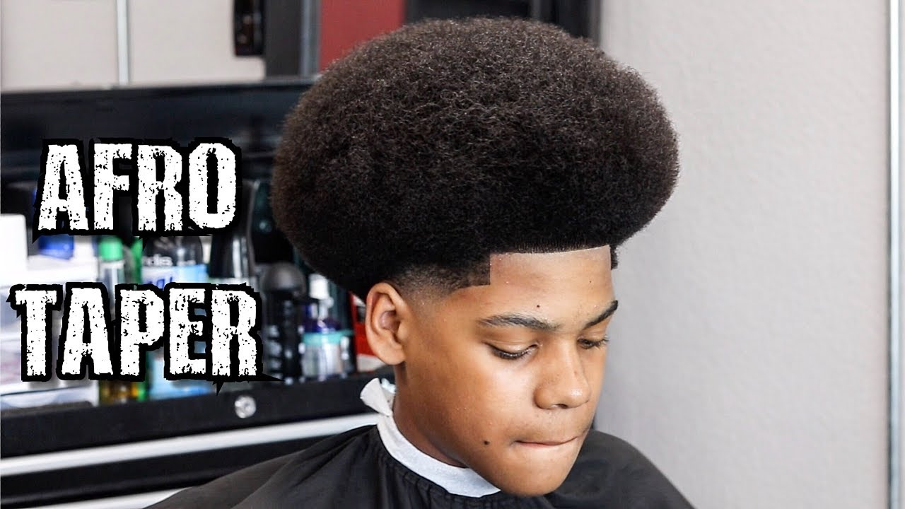 Afro Shape Up Taper Barber Tutorial Learn How To Cut A Fro