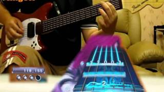 RB3 - When I'm Gone - Pro Guitar Expert Leaderboard #1 GS (hand zoom)