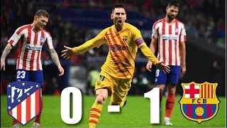 Atletico Madrid vs Barcelona 0-1 La Liga 201920 - MATCH REVIEW