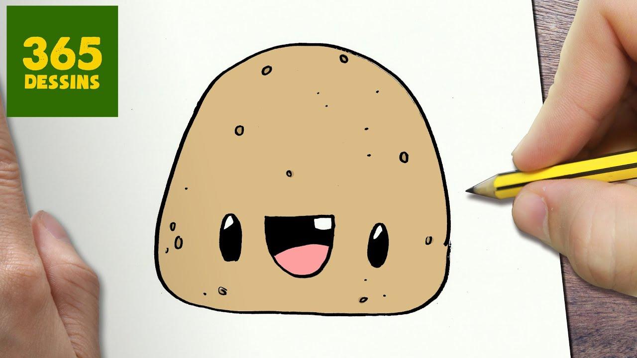 Comment dessiner pomme de terre kawaii tape par tape dessins kawaii facile youtube - Pommes dessin ...