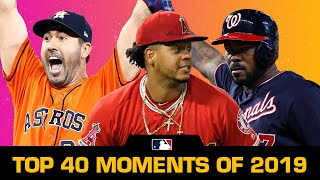 Top 40 Moments of the 2019 MLB Season