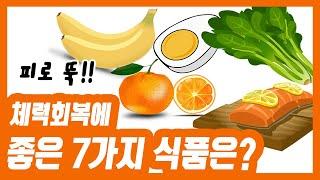 [건강식품 G(굿)]체력회복에 좋은 7가지 식품은? ~…