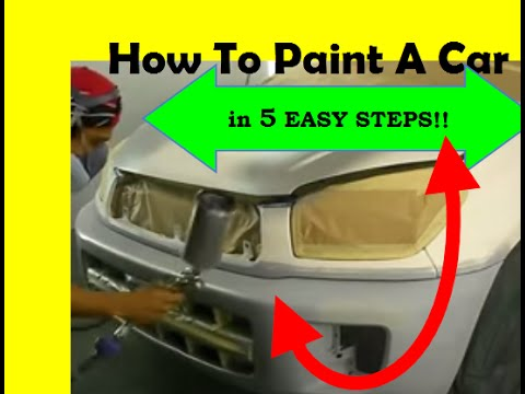 How to paint a car in 5 easy steps youtube for What are the steps to painting a car