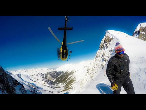 "SILVERTON MOUNTAIN COLORADO BACK COUNTRY  ""GO PRO HD"" HELI"