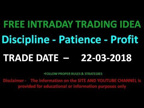 # 151  STOCK  INTRADAY TRADING IDEA EXAMPLE  22 03 2018