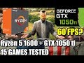 Ryzen 5 1600 paired with a GTX 1050 ti - Enough For 60 FPS? - 15 Games Tested