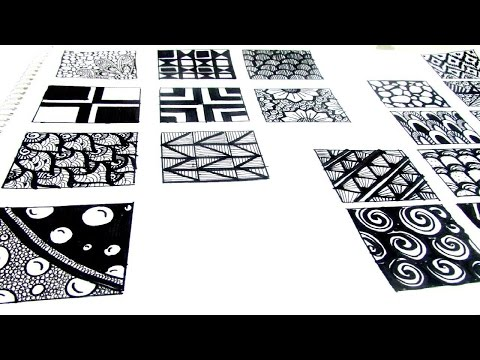 20 Easy ZEN-TANGLE Patterns  ✨
