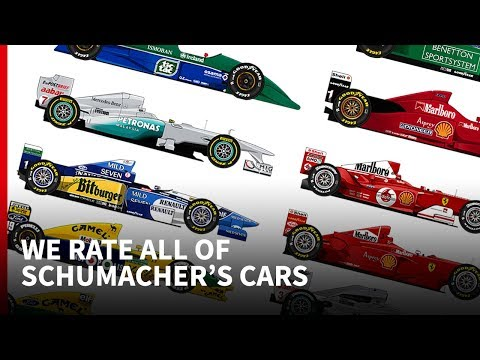 Ranking all 20 of Michael Schumacher's F1 cars